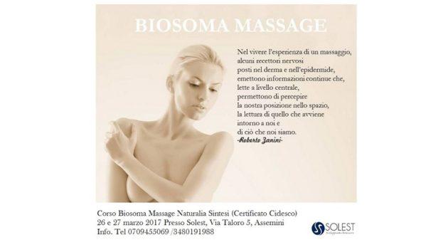 Biosoma Massage, 26 e 27 marzo 2017